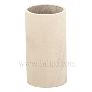 CANDLE TUBE 24ID X 65MM IVORY CARD PLAIN CANDLE TUBE