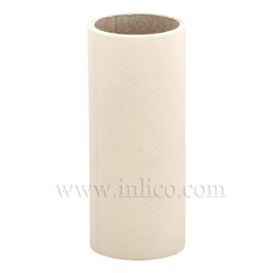 CANDLE TUBE 24ID X 75MM IVORY CARD PLAIN CANDLE TUBE