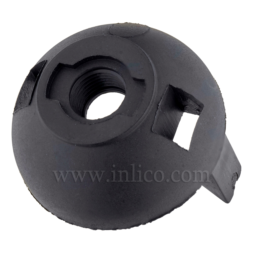 M10 PLASTIC ENTRY SNAP FIT E27 DOME BLACK