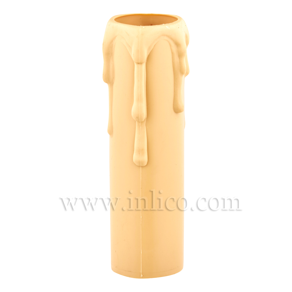 CANDLE DRIP 23ID X 65MM IVORY PLASTIC
