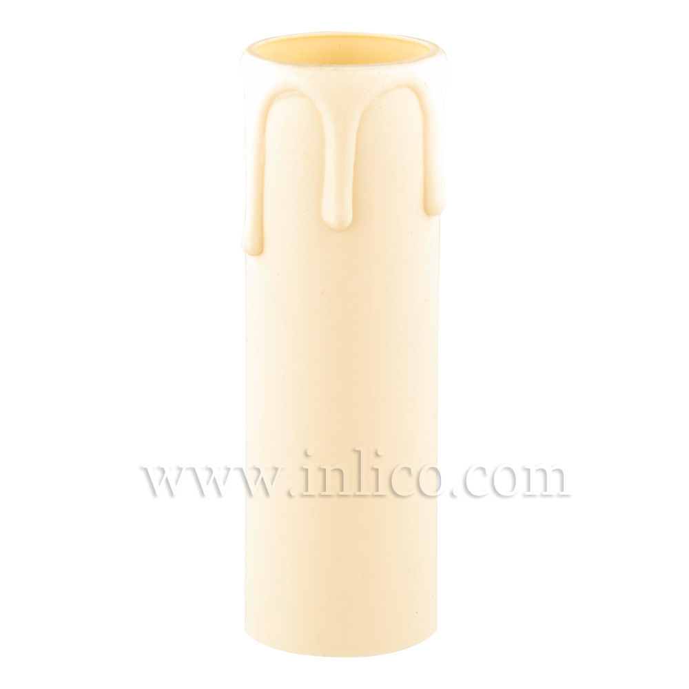CANDLE DRIP 24ID X 65MM IVORY