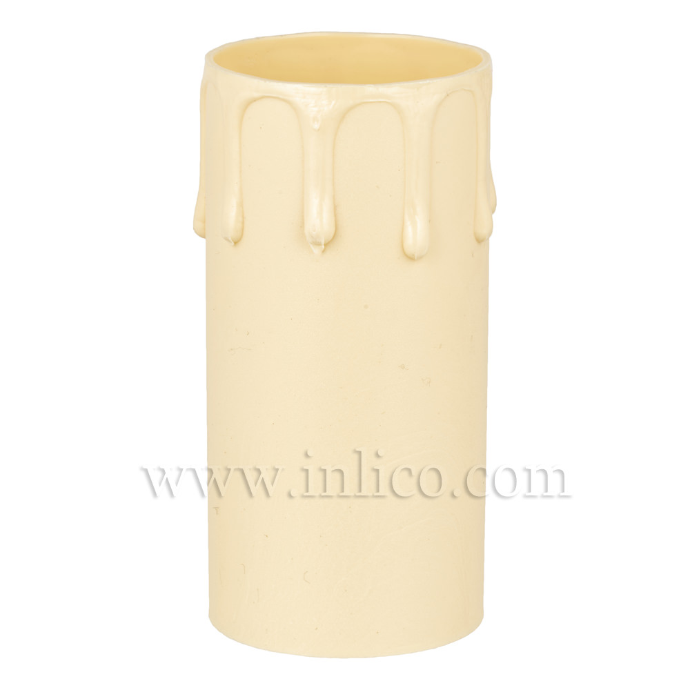 CANDLE DRIP 41ID X 85MM IVORY PLASTIC