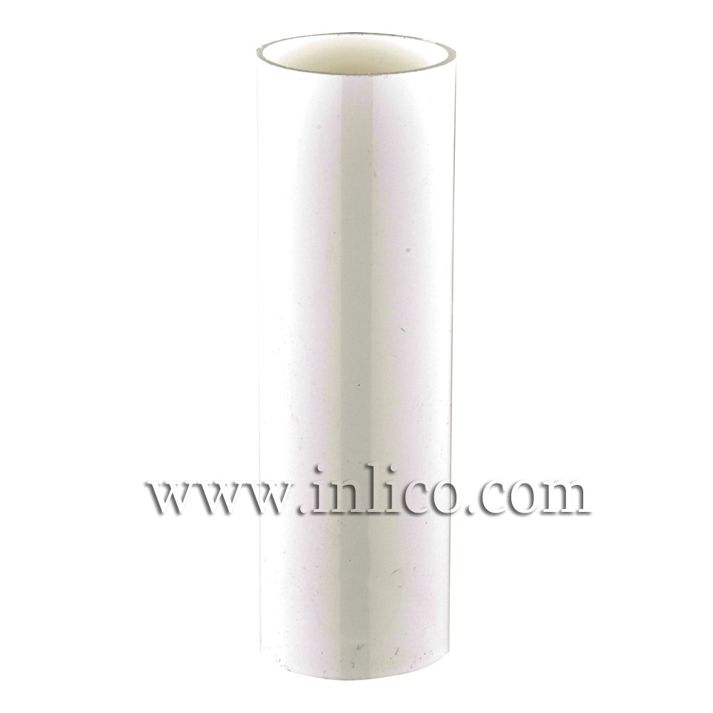 CANDLE TUBE 24ID X 85MM IVORY PLASTIC