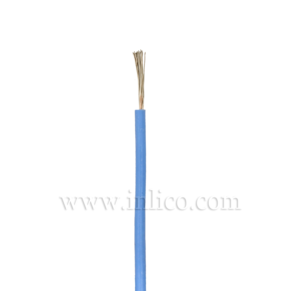 1X.75MM SILICON HR FLX BLUE MULTI STRANDED -40 DEG TO 180 DEG C SILICON INSULATED MANUFACTURED TO SIAF STANDARD BS EN 60228:2005