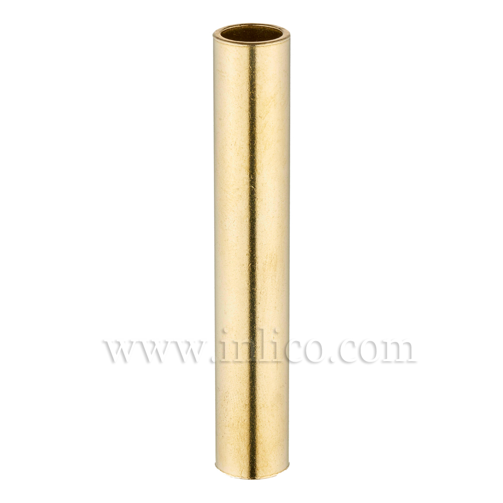 RAW BRASS SPACER 100MM LONG 10mm CLEAR BORE TO FIT OVER M10x1 ALLTHREAD