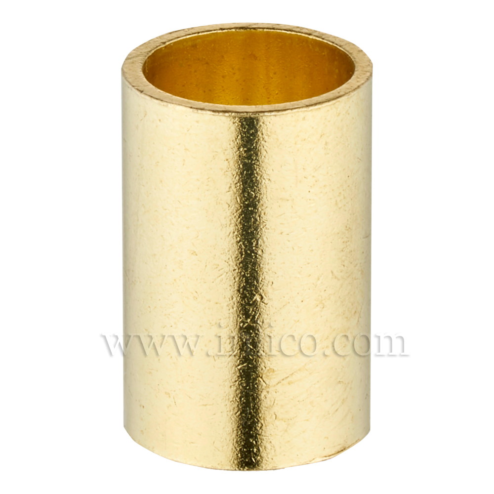 RAW BRASS SPACER 20MM LONG 10mm CLEAR BORE TO FIT OVER M10x1 ALLTHREAD