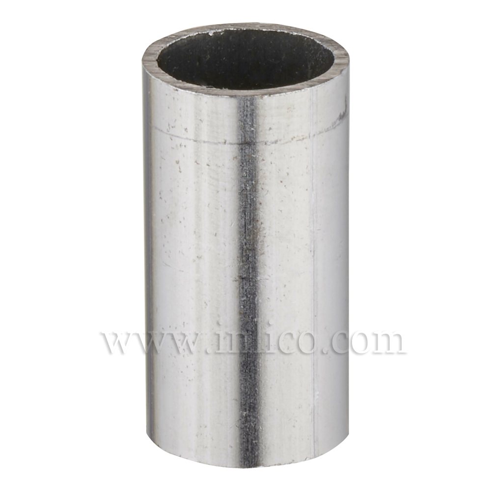 RAW STEEL SPACER 20MM LONG 10MM CLEAR BORE TO FIT OVER M10x1 ALLTHREAD