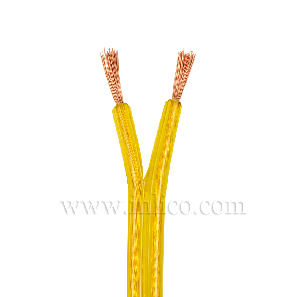 SPT2 2 CORE GOLD CABLE FOR USA USE WITH UL APPROVAL HOLOGRAM LABEL UL APPROVED FILE NUMBER E218701  REEL SIZE IS 500FT=153M